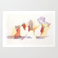 CRAYON LOVE - Shadows  Art Print