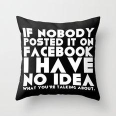 Facebook Problems Throw Pillow