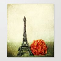Textured Paris StillLife… Canvas Print