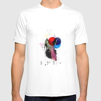 Bird Colours Mens Fitted Tee White SMALL