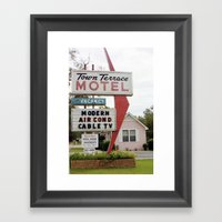 Town Terrace Framed Art Print