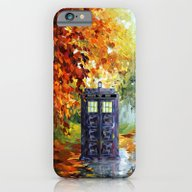 iPhone & iPod Case featuring Starry Autumn Blue Phone… by Three Second