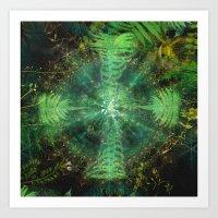 Botanic Mandala II Art Print