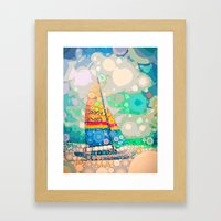 Siesta Key, FL - Sailing Framed Art Print