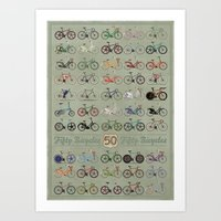 bicycle Art Prints featuring Bicycle by Wyatt Design