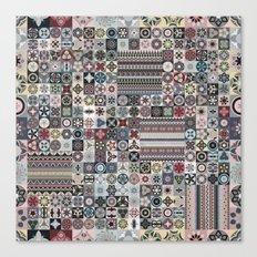 Boho Quilt Pattern 4 Canvas Print
