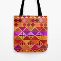 Fire Diamond Pattern Tote Bag