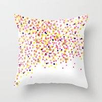 Watercolor Confetti! Throw Pillow