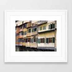 Ponte Vecchio Framed Art Print