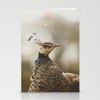 Little Miss Peahen Stationery Cards