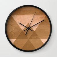 Distressed Triangles Wall Clock