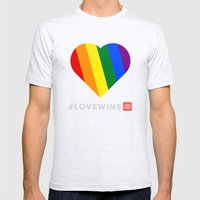 #LoveWins Mens Fitted Tee Ash Grey SMALL