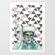 Art Print featuring Charo by Carolina Fuentes (BL…