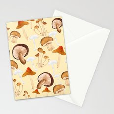 mushroom pattern watercolor painting Stationery Cards