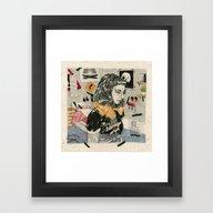 Teenage Wife Framed Art Print