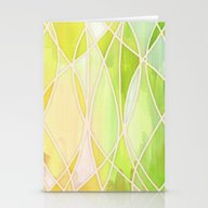 Stationery Cards featuring Lemon & Lime Love - Abst… by Micklyn