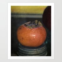 Persimmon Still Life Art Print