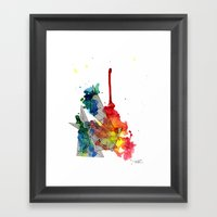 Watercolor And Fine Line… Framed Art Print