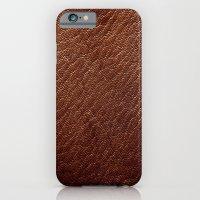 Leather Texture (Dark Brown) iPhone 6 Slim Case