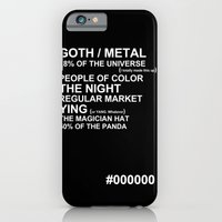 iPhone & iPod Case featuring BLACK by Villaraco