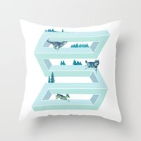 The Impossible Pursuit  Throw Pillow