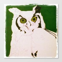 Canvas Print featuring mystic's owl by beansandjeremy