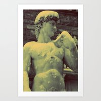 David Statue In Florence… Art Print