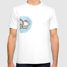 Cupcakes Mens Fitted Tee SMALL White