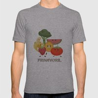 Fruity Mens Fitted Tee Athletic Grey SMALL