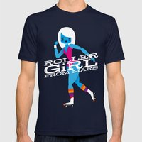Roller Girl From Mars Mens Fitted Tee Navy SMALL