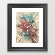 Framed Art Print featuring Old Clock by Nechifor Ionut