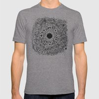 Flower Circle Mens Fitted Tee Tri-Grey SMALL