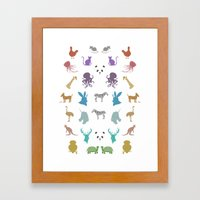 Glitter Animals B Framed Art Print