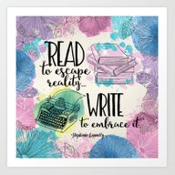 Write To Embrace Design Art Print