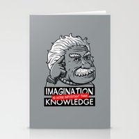 Imagination Is More Impo… Stationery Cards