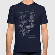 LEGO Blue Patent Mens Fitted Tee Navy SMALL