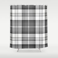 Black & White Tartan Shower Curtain