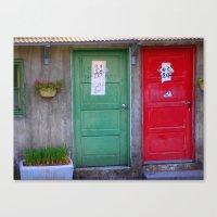 Nostalgic Doors Canvas Print