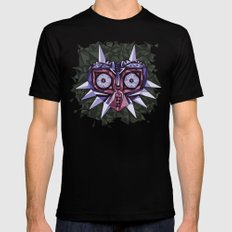 Triangle Majora's Mask Mens Fitted Tee Black SMALL