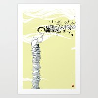 Glue Network Print Serie… Art Print