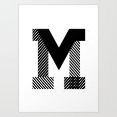THE LETTER M Art Print