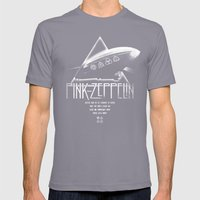 Pink Zeppelin Mens Fitted Tee Slate SMALL