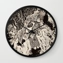 Entanglement (Untitled Face II) Wall Clock