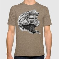 Master Chief Halo Mens Fitted Tee Tri-Coffee SMALL
