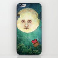 Love you to the Moon iPhone & iPod Skin