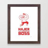 Hajer Boss Framed Art Print