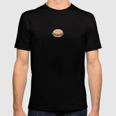 Bagel Sandwich SMALL Black Mens Fitted Tee