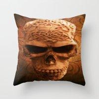 Simply Skull Throw Pillow
