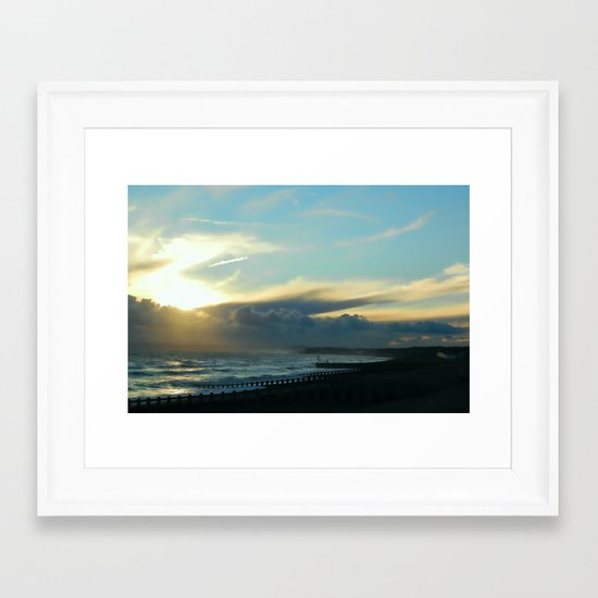 Approaching Squall Framed Art Print