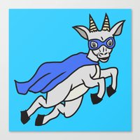 The Mighty Flash Goat Canvas Print